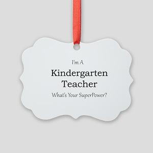 Kindergarten Teacher Picture Ornament
