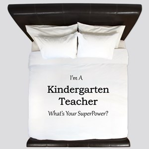 Kindergarten Teacher King Duvet