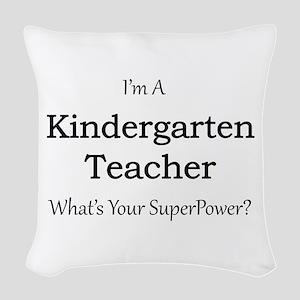 Kindergarten Teacher Woven Throw Pillow
