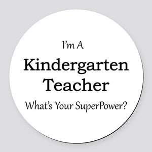 Kindergarten Teacher Round Car Magnet