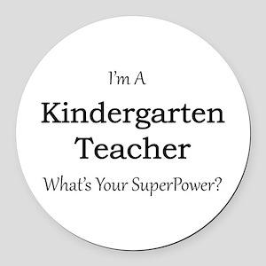 Kindergarten Teacher Round Car Magnet