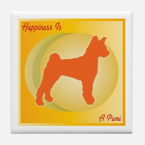 Pumi Happiness Tile Coaster