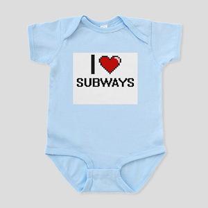 I love Subways Digital Design Body Suit