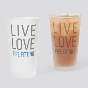 Live Love Pipe Fitting Drinking Glass