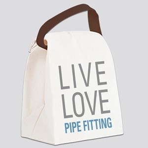 Live Love Pipe Fitting Canvas Lunch Bag