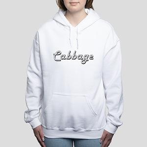 Cabbage Classic Retro De Women's Hooded Sweatshirt