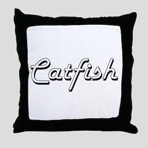 Catfish Classic Retro Design Throw Pillow