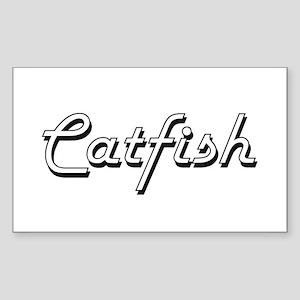 Catfish Classic Retro Design Sticker