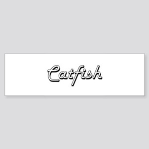 Catfish Classic Retro Design Bumper Sticker