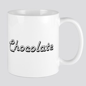Chocolate Classic Retro Design Mugs