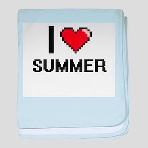 I love Summer Digital Design baby blanket