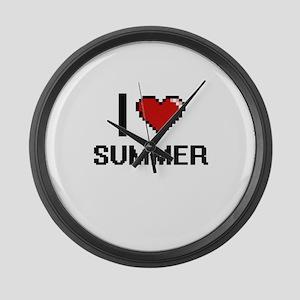 I love Summer Digital Design Large Wall Clock