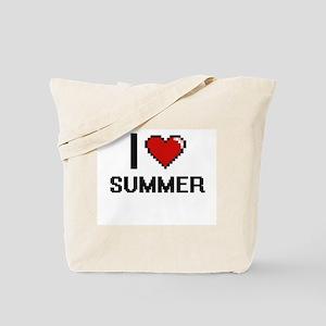 I love Summer Digital Design Tote Bag