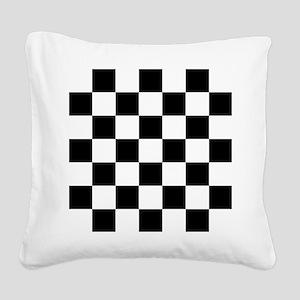 checker board Square Canvas Pillow