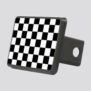 checker board Rectangular Hitch Cover