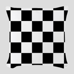 checker board Woven Throw Pillow