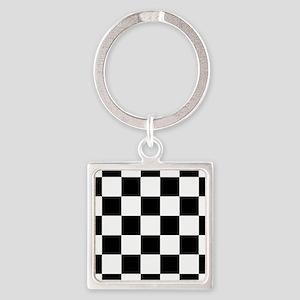 checker board Square Keychain