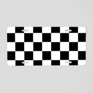 checker board Aluminum License Plate