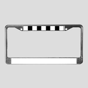 checker board License Plate Frame