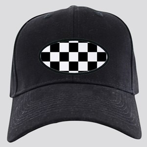 checker board Black Cap