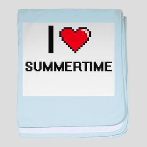 I love Summertime Digital Design baby blanket