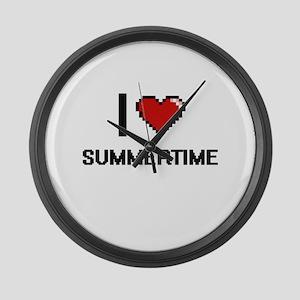 I love Summertime Digital Design Large Wall Clock