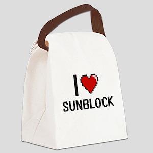 I love Sunblock Digital Design Canvas Lunch Bag