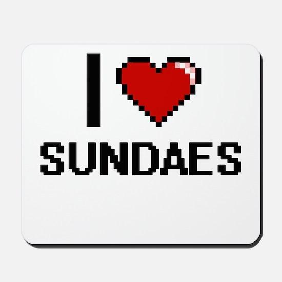 I love Sundaes Digital Design Mousepad
