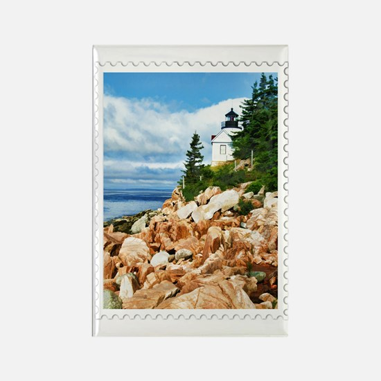 Bass Harbor Acadia National Park  Rectangle Magnet