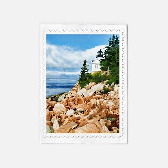 Bass Harbor Acadia National Park Ma 5'x7'Area Rug