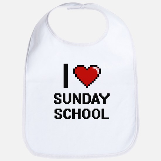 I love Sunday School Digital Design Bib