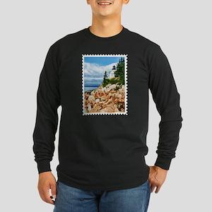 Bass Harbor Acadia National Pa Long Sleeve T-Shirt