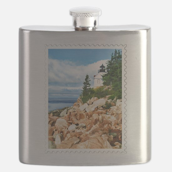 Bass Harbor Acadia National Park Maine Flask
