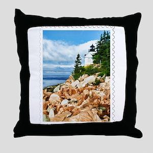 Bass Harbor Acadia National Park Main Throw Pillow