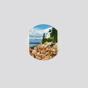 Bass Harbor Acadia National Park Maine Mini Button