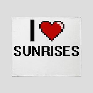I love Sunrises Digital Design Throw Blanket