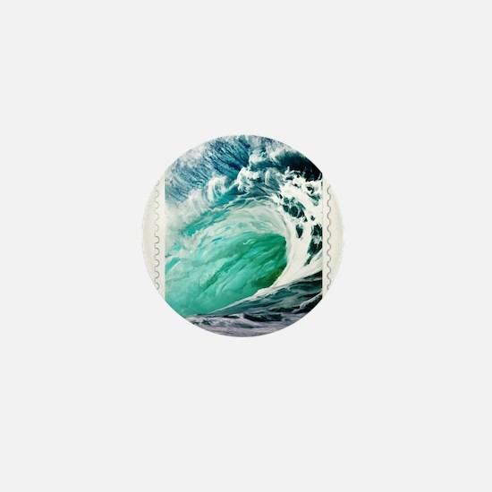 Big Ocean Wave Stamp Mini Button