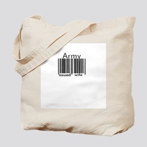 Army Issued Wife (Barcode) Tote Bag