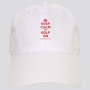 585c70f0a60 Keep Calm And Golf Hats - CafePress