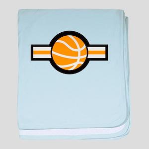 basketball stripe baby blanket