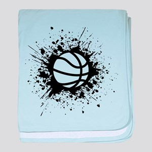 basketball splats baby blanket