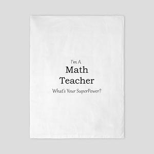 Math Teacher Twin Duvet