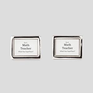 Math Teacher Rectangular Cufflinks