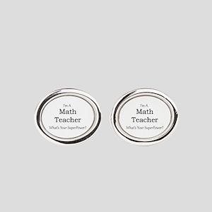 Math Teacher Oval Cufflinks