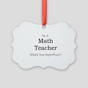 Math Teacher Picture Ornament