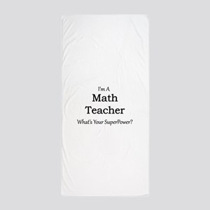 Math Teacher Beach Towel