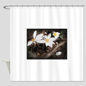 Bee Flying Over Flower Shower Curtain