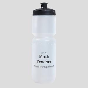 Math Teacher Sports Bottle