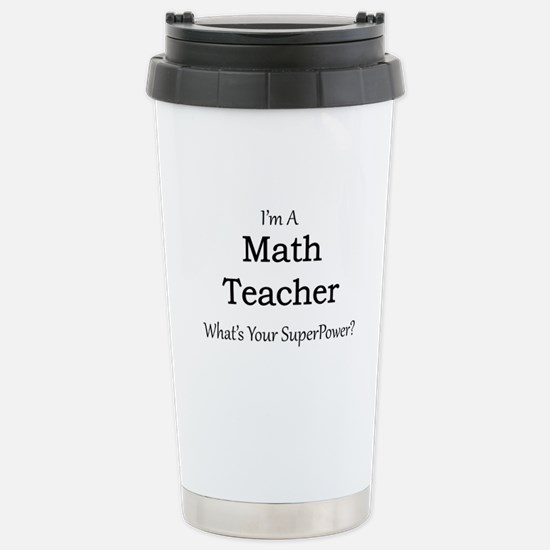 Math Teacher Stainless Steel Travel Mug