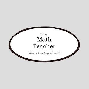 Math Teacher Patch